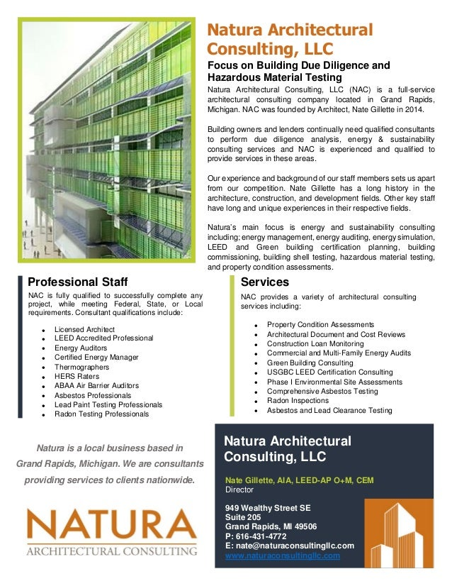 Natura Architectural Consulting Services