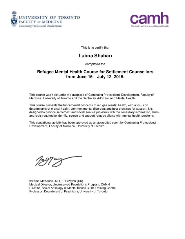Letter Of Completion Ibovnathandedecker