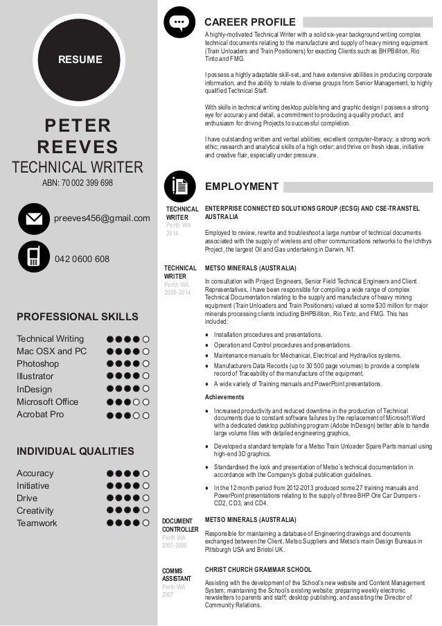 Peter Reeves Resume #2 Nov 2014
