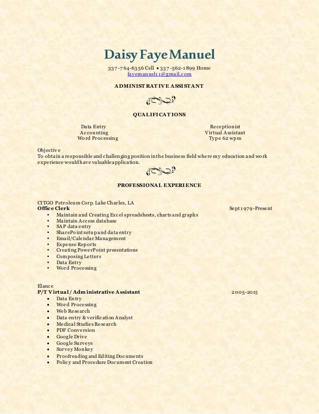 Magnificent Virtual Accounting Resume At Home Images - Resume Ideas ...