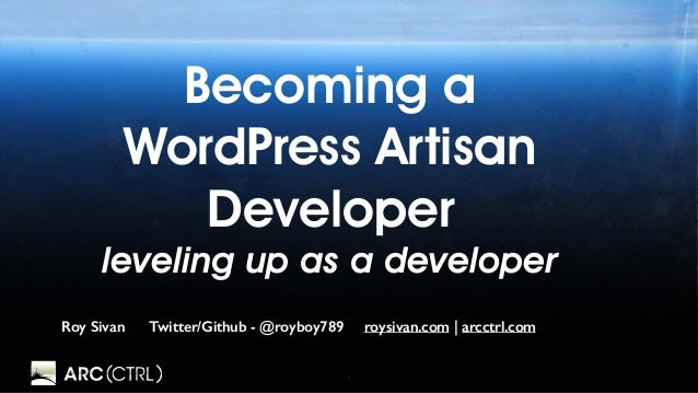 1 Becoming a WordPress Artisan Developer