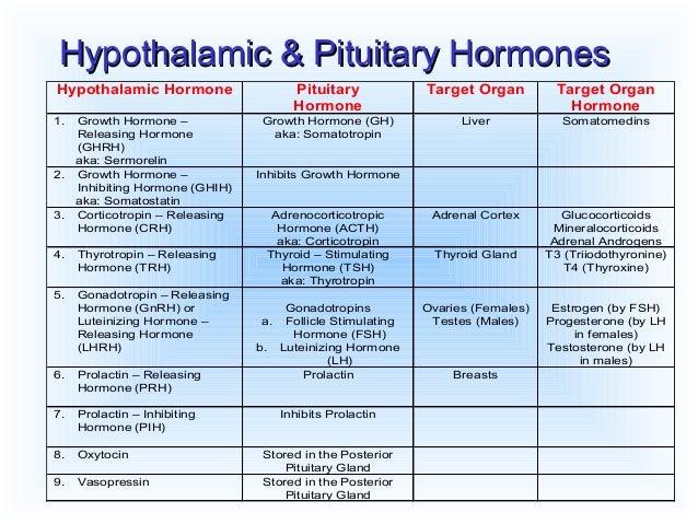 how to remember hypothalamus hormones