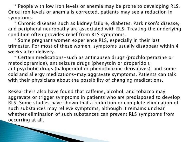 Restless Leg Syndrome Symptoms Diagnosis Treatment Of Restless Le