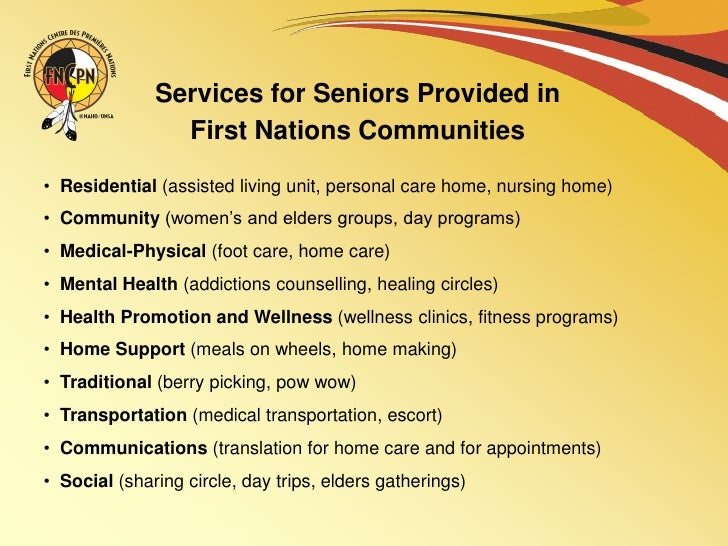Health Issues Programs And Services For Seniors In First