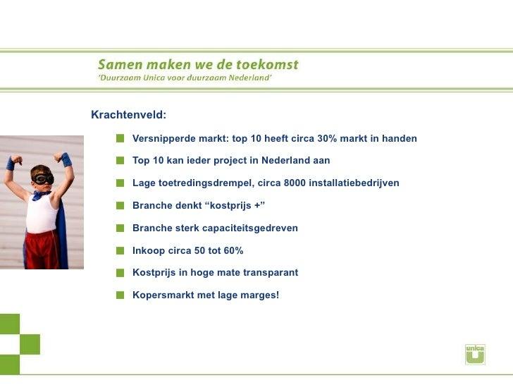 <ul><li>Krachtenveld: </li></ul><ul><ul><li>Versnipperde markt: top 10 heeft circa 30% markt in handen </li></ul></ul><ul>...