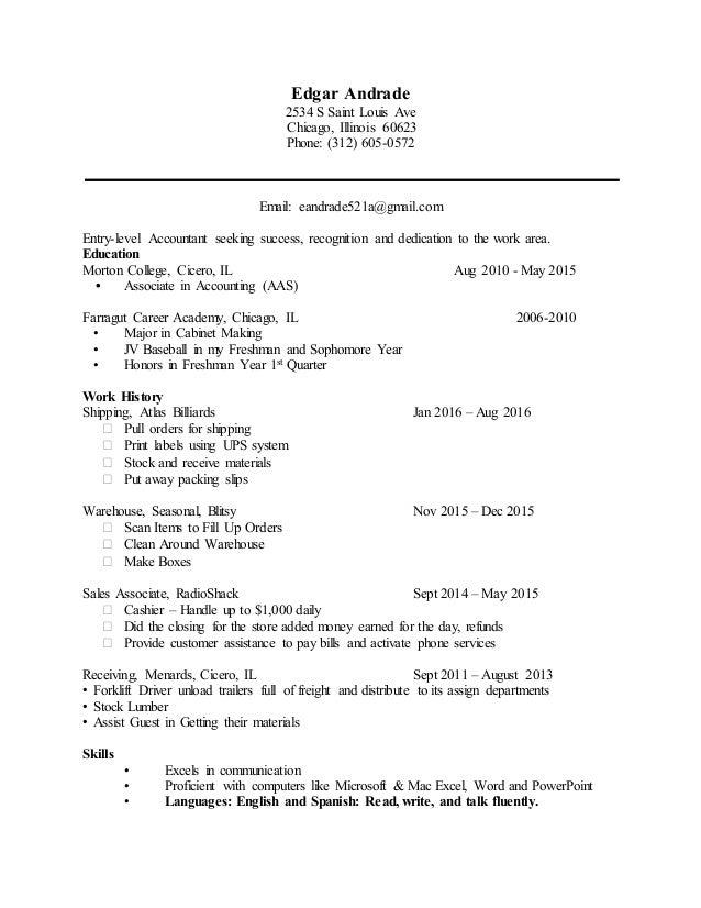 Edgar\'s 2017 Resume