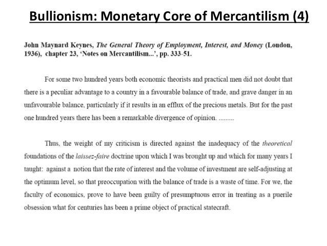 mercantilism theory pdf