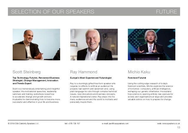 Csa celebrity speakers ltd