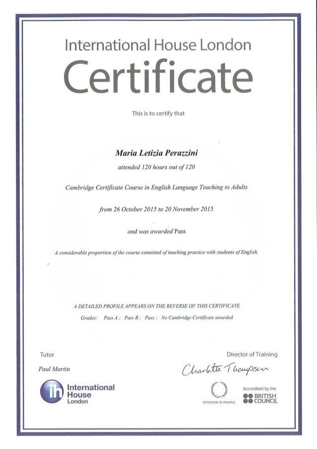 Marialetizia Perazzini Celta Certificate And Reference