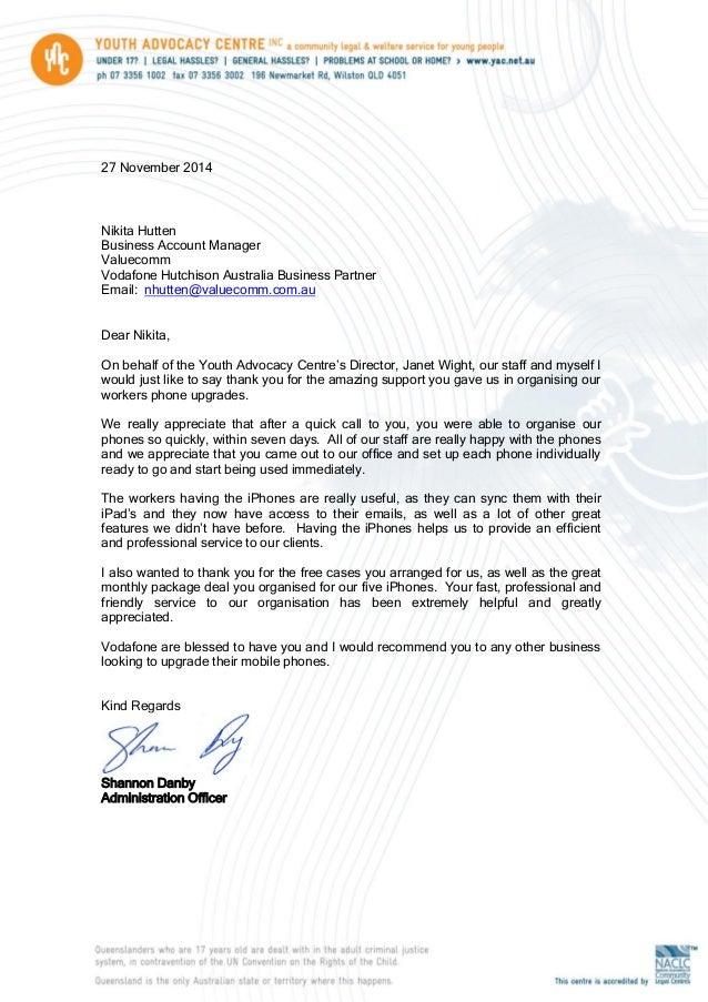 Thank you letter 2014 thank you letter 2014 27 november 2014 nikita hutten business account manager valuecomm vodafone hutchison australia business partner email expocarfo Choice Image