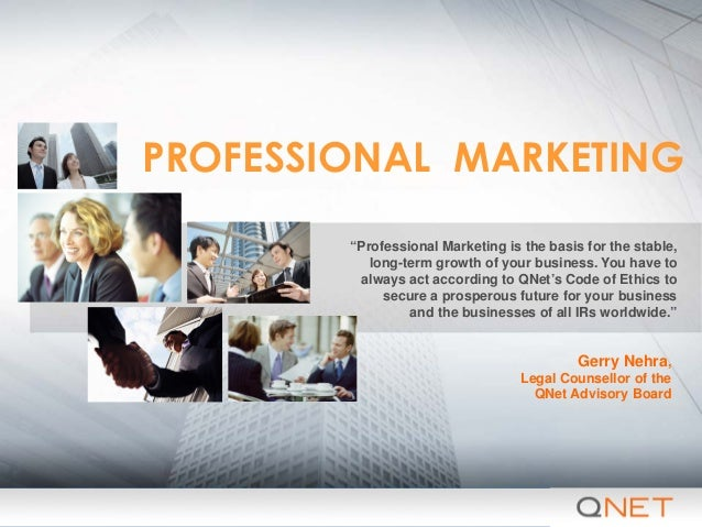Professional marketing presentation