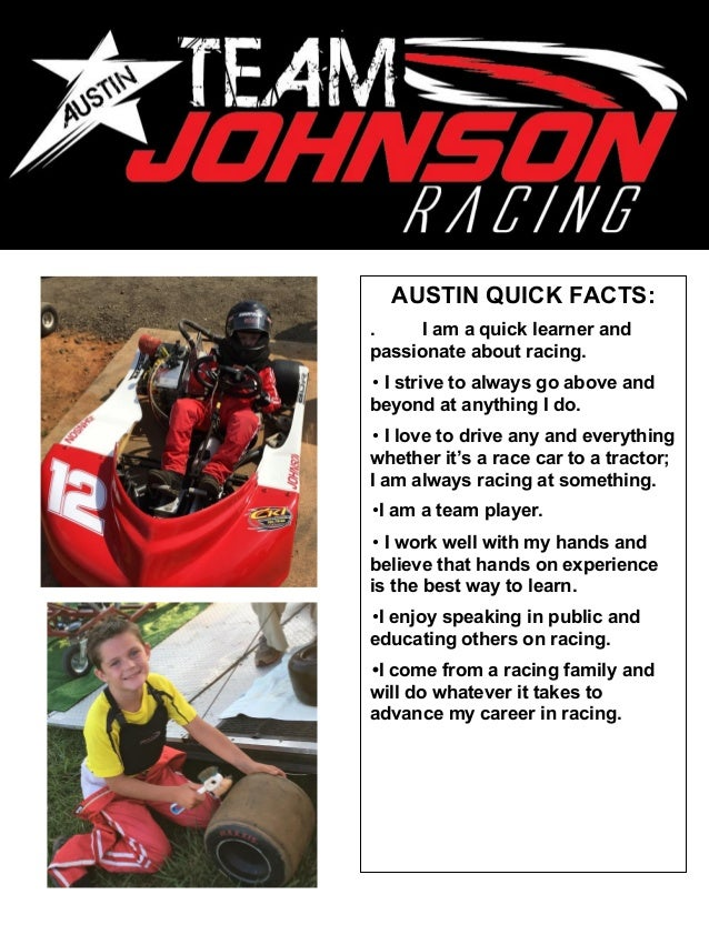 austin johnson driver resume 2016 2017