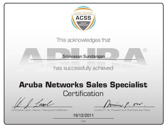 Aruba Certificate