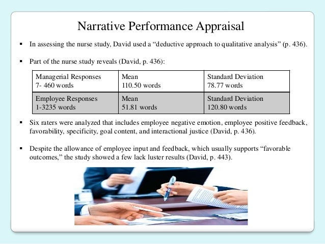 performance appraisal final Sample performance appraisal employee name: hire date:  divided by 2 equal final rating  11  this performance appraisal in no way affects that employment .