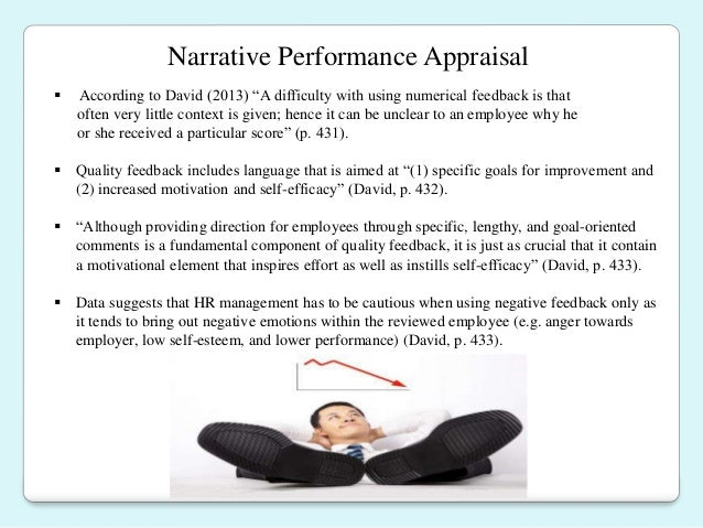 performance appraisal final The performance review can be an extremely stressful part of an employee's job the performance review is typically a yearly examination from both the.