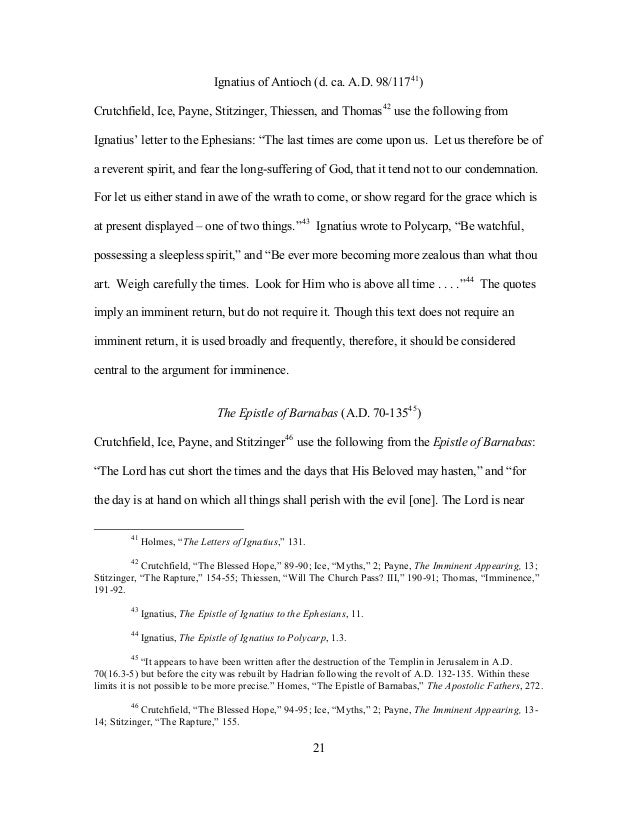 polycarp thesis The apostolic fathers, part 2, vol 1: st ignatius, st polycarp, $2099  jewish  fathers, the wisdom of ben sira, and essay on the theology of the didache.