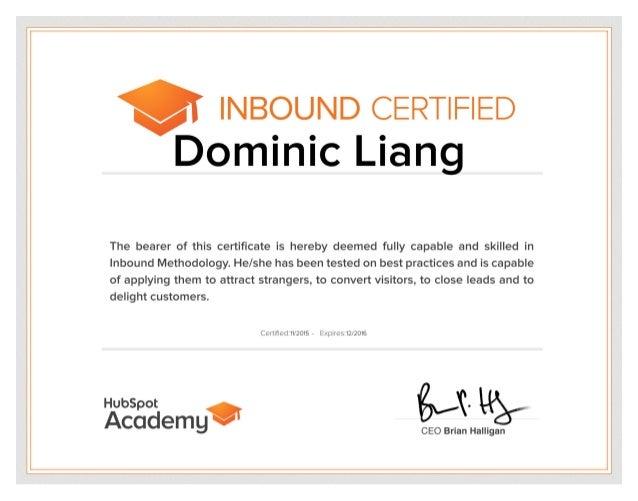 Inbound Marketing Certified - Hubspot Academy