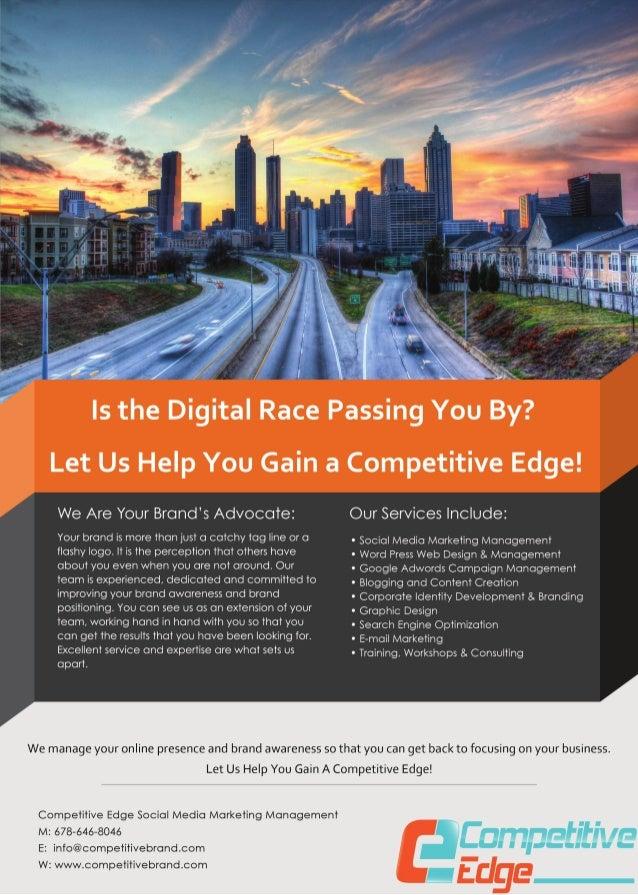 Competitive Edge Social Media Marketing Management Flyer