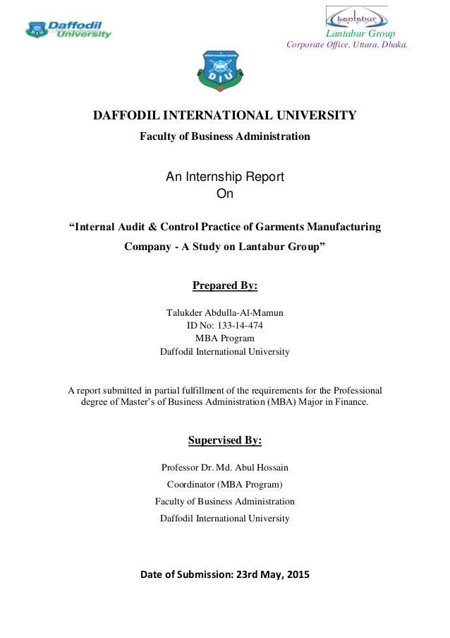 internship final report sample