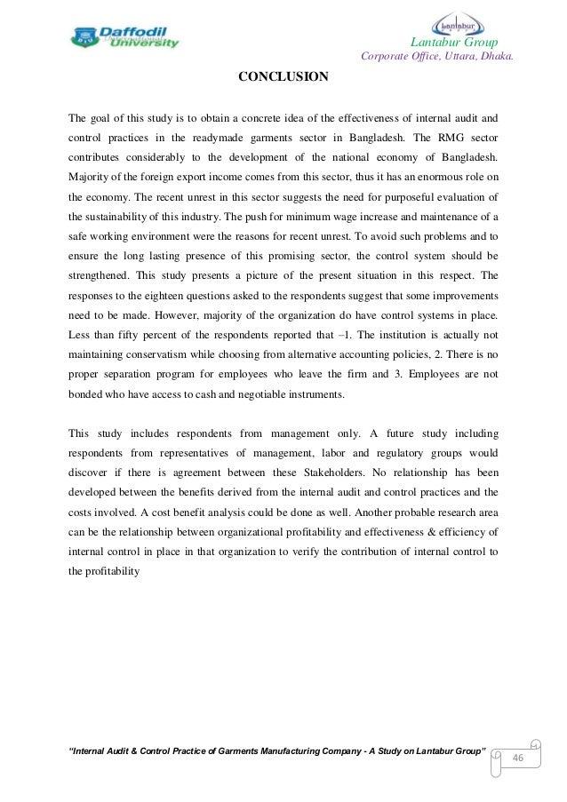 Internship reports of audit firms