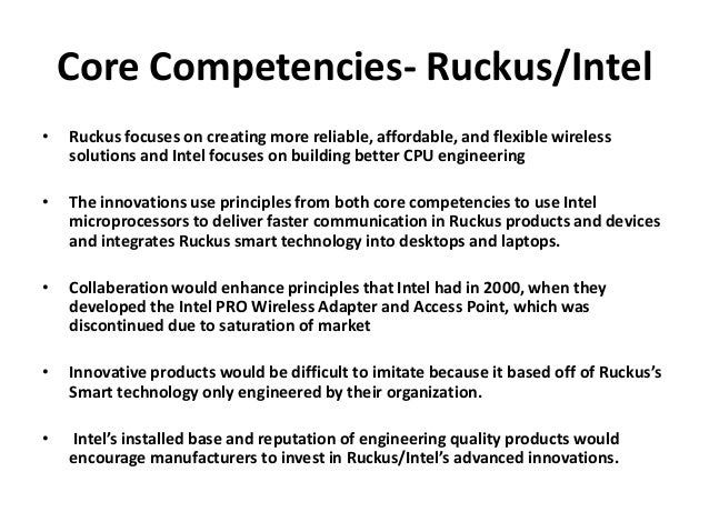 intel core competencies