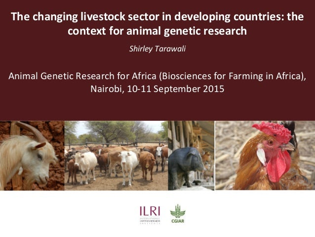 The changing livestock sector in developing countries: the context for animal genetic research Shirley Tarawali Animal Gen...