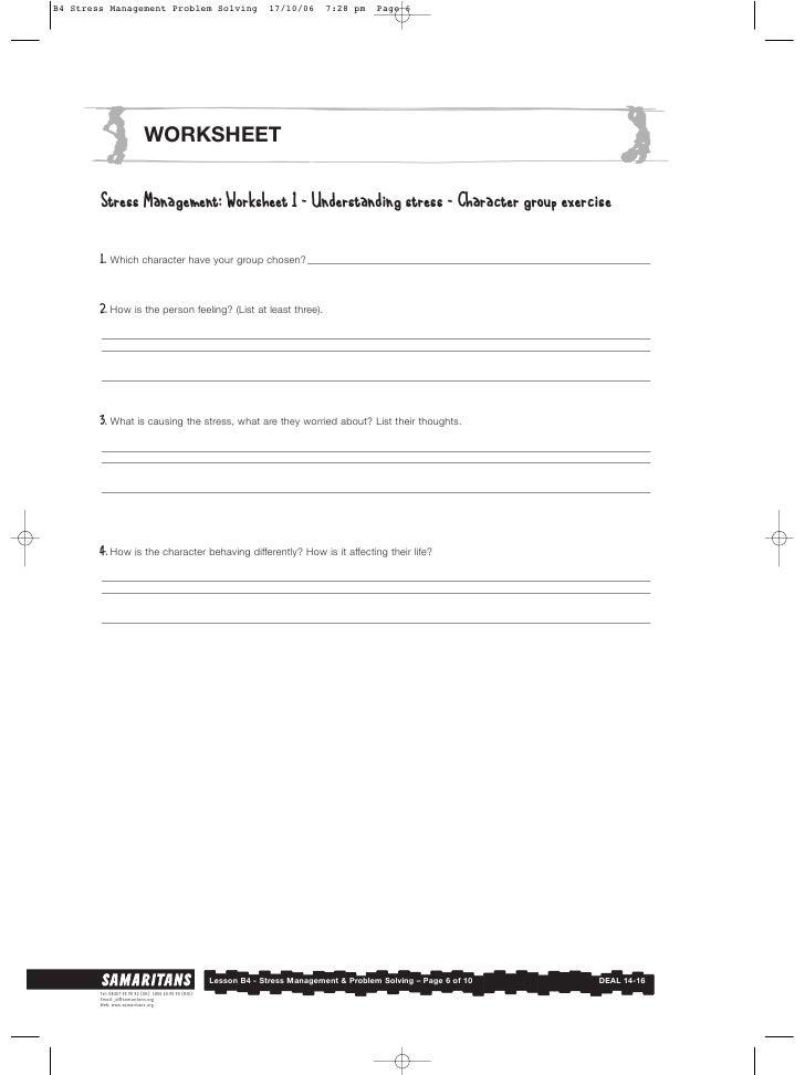 B4 stressmanagement – Stress Management Worksheet
