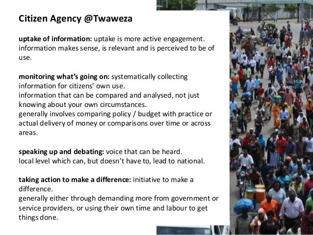 Presentation on Twaweza and Citizen Agency Slide 2