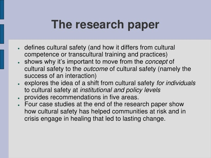 health and safety research papers Occupational health and safety management protect and improve the safety and health of working people by conducting actionable research that is valued by.