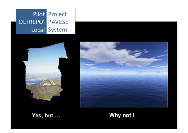 Pilot	    Project	   	    OLTREPO'	    PAVESE	    Local	    System	     Yes, but …  Why not !