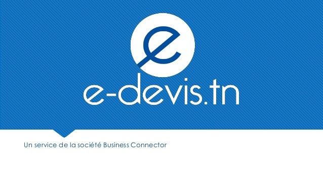 Un service de la société Business Connector