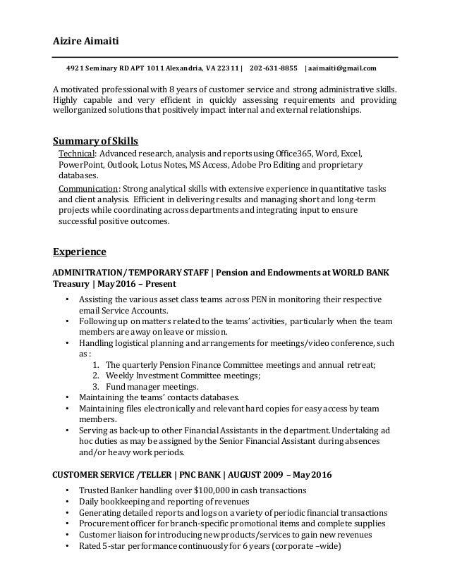 Alice\'s resume 2016