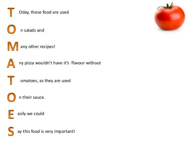 Acrostic poems written by the spanish team 2 oday these food forumfinder Gallery