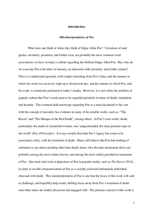 edgar allen poe death theory essay example