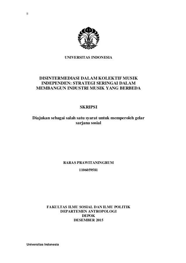 Skripsi Ilmu Komunikasi Ui Ide Judul Skripsi Universitas