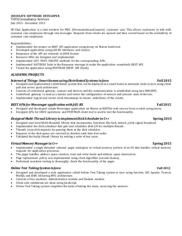 2 - Restful Web Services Resume