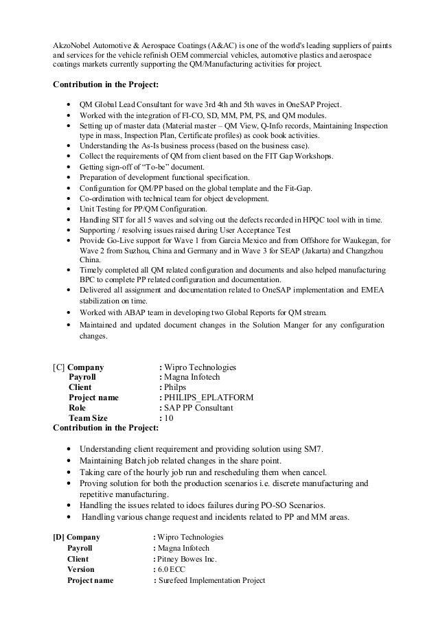 System Analyst Cover Letter Sample Domainlives Sap Resume Sample Sap Resumes  Sap Sample Bi Related Post