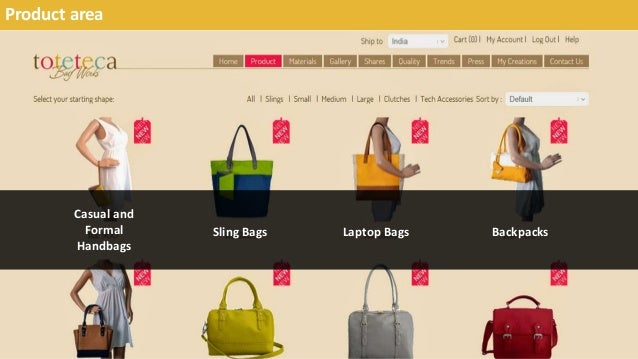 Product area Casual and Formal Handbags Sling Bags Laptop Bags Backpacks
