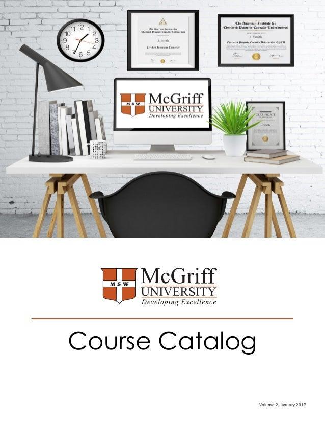 Course Catalog Volume 2, January 2017