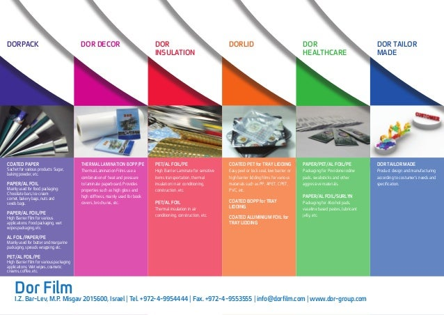 Dor Film Extrusion Coating Line Product Range Brochure