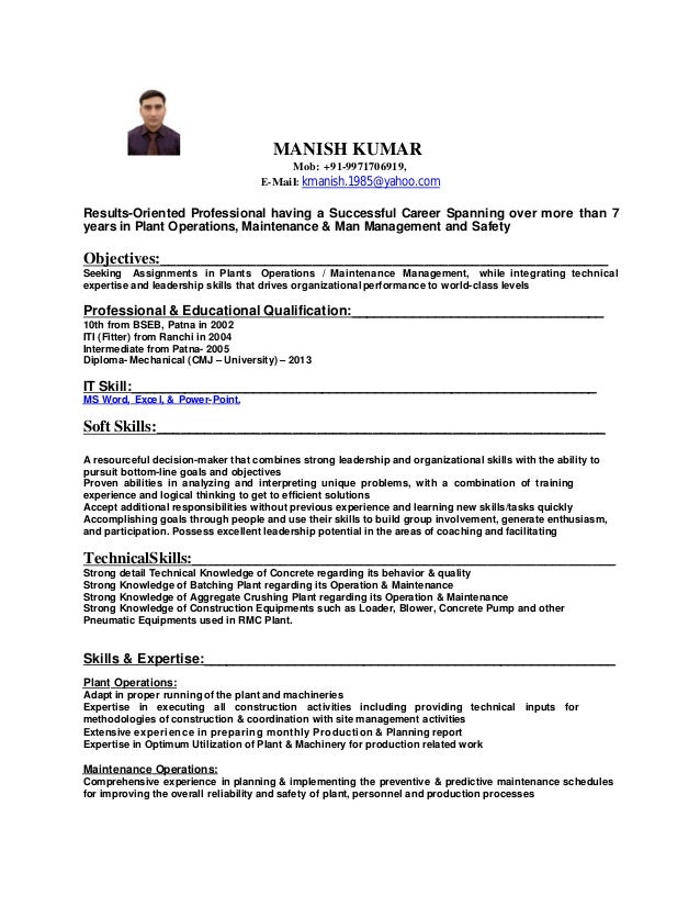 MANISH KUMAR UPDATE RESUME 1