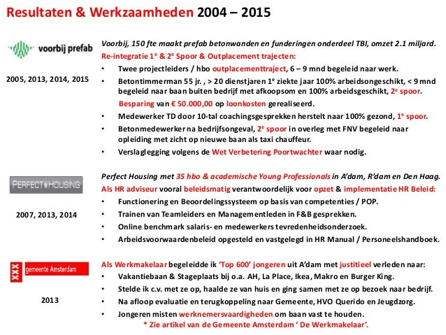 Portfolio Projecten Key Klantrelaties 2004 2015