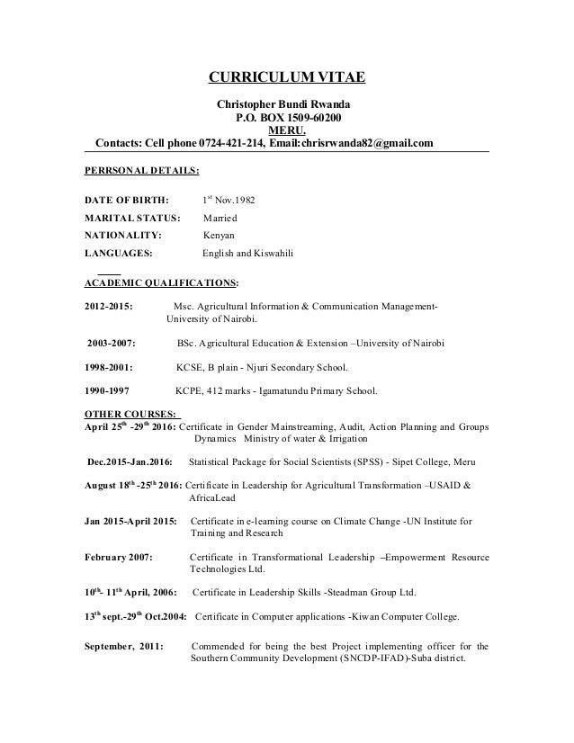 rwanda resume