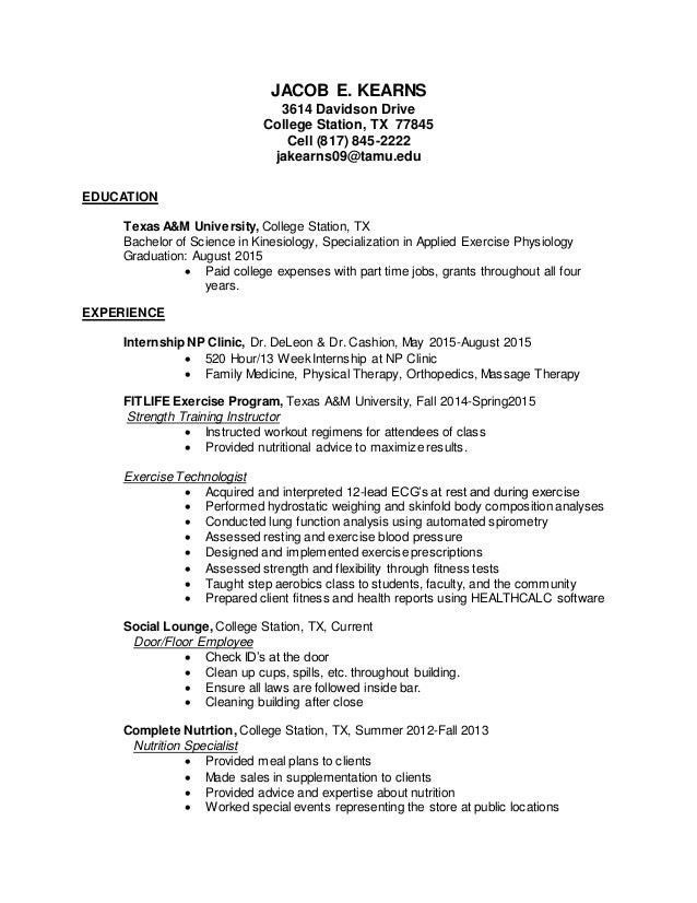 Aep Professional Resume