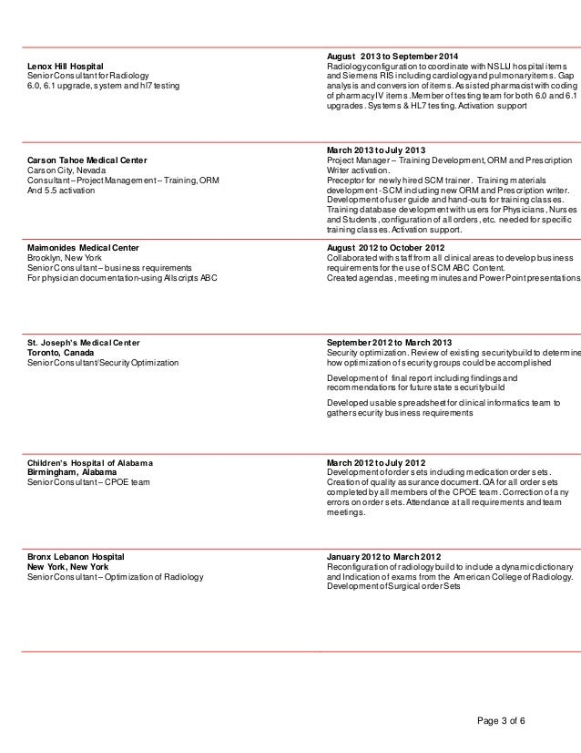Resume updated July 2016