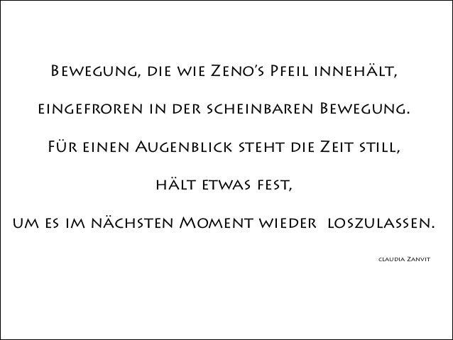 Bewegung, die wie Zeno's Pfeil innehält, eingefroren in der scheinbaren Bewegung. ! Für einen Augenblick steht die Zeit st...