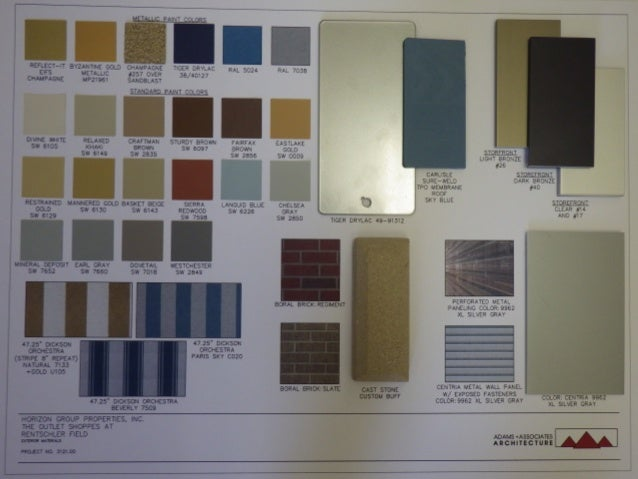 Exterior - Material Board
