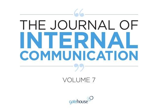 THE JOURNAL OF INTERNAL COMMUNICATION VOLUME 7