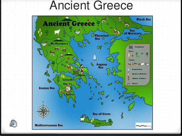 Topographic Map Of Ancient Greece.Ancient Greece Map