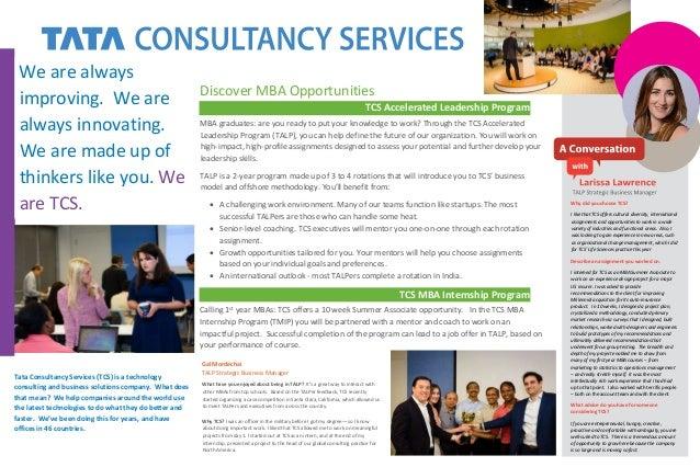 TCS - MBA